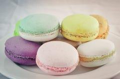 Kleurrijke macaron royalty-vrije stock afbeeldingen