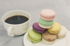 Kleurrijke macaron stock fotografie