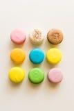 Kleurrijke macarones Stock Afbeeldingen