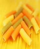 Kleurrijke macaroni en spaghetti Royalty-vrije Stock Foto
