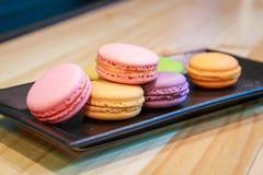 Kleurrijke Macarons royalty-vrije stock afbeelding