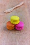 Kleurrijke Macarons Stock Foto's