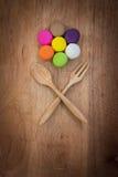 Kleurrijke Macarons Stock Foto