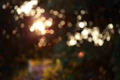 Kleurrijke magische lichte feestelijke achtergrond, abstracte bokehdefocu Royalty-vrije Stock Foto's