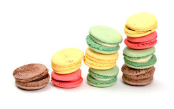 Kleurrijke Makaron stock foto's