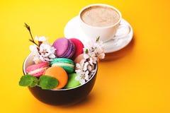 Kleurrijke makaron in kom stock foto