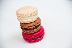 Kleurrijke makaron van het snoepjes de Franse dessert Royalty-vrije Stock Afbeeldingen