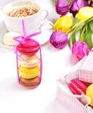 Kleurrijke makarons Stock Foto