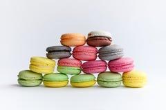 Kleurrijke makarons Stock Afbeelding