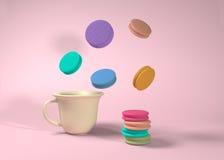 Kleurrijke makarons royalty-vrije stock afbeelding