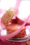 Kleurrijke makarons in doos Stock Afbeelding