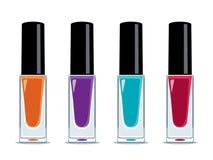 Kleurrijke make-upflessen vector illustratie