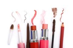 Kleurrijke make-upinzameling Stock Afbeelding