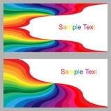 Kleurrijke Malplaatjes voor Visitekaartjes, Etiketten, Vliegers, Banners, Kentekens, Affiches, Stickers en Reclameacties Kleurrij Royalty-vrije Stock Afbeeldingen
