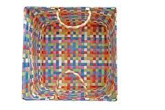 Kleurrijke mand Stock Afbeelding