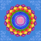 Kleurrijke mandala Stock Foto's