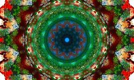 Kleurrijke mandalakunst met een mooi artistiek ontwerp royalty-vrije illustratie