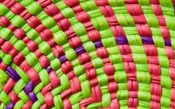 Kleurrijke mandtextuur stock foto's