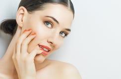 Kleurrijke manicure Stock Afbeeldingen