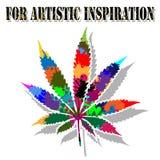 Kleurrijke marihuana Royalty-vrije Stock Foto
