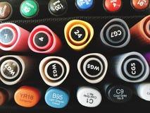 Kleurrijke markeerstift Stock Foto