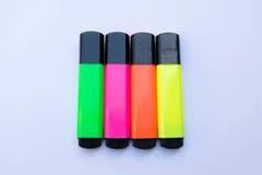 Kleurrijke markeerstiften Stock Afbeelding