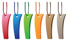 Kleurrijke markeringsetiketten vector illustratie