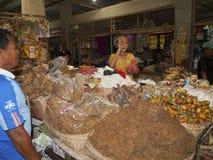 Kleurrijke markt in Bali Indonesië Stock Foto