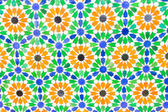 Kleurrijke Marokkaanse stijlachtergrond Royalty-vrije Stock Foto's