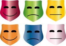 Kleurrijke maskers Stock Foto