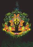 Kleurrijke meditatie Stock Fotografie