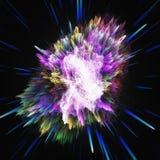 Kleurrijke melkweg abstracte kosmische achtergrond Glanzend fantasieheelal Diepe Kosmos Oneindigheidsexploratie 3D Illustratie royalty-vrije illustratie
