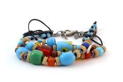 Kleurrijke met de hand gemaakte armband Stock Foto's