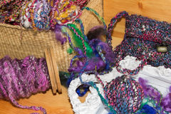 Kleurrijke met de hand gemaakte Artyarns Royalty-vrije Stock Foto's