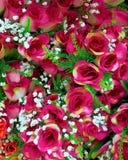 Kleurrijke met de hand gemaakte valse rozen Stock Foto's