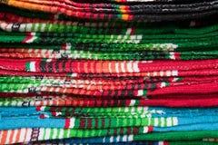Kleurrijke Mexicaanse Dekens Stock Afbeelding