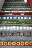 Kleurrijke Mexicaanse tegels die trap verfraaien royalty-vrije stock afbeelding