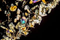 Kleurrijke microcrystals stock afbeeldingen