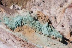 Kleurrijke minerale rotsstortingen Royalty-vrije Stock Foto's
