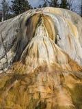 Kleurrijke mineralen bij de Mammoet Hete Lentes Stock Afbeelding