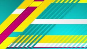 Kleurrijke minimale geometrische collectieve videoanimatie vector illustratie