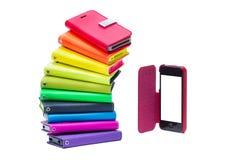 Kleurrijke mobiele telefoongevallen Stock Afbeelding