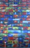 Kleurrijke moderne architectuur van het Museum van Geluid en Visie in Hilversum, Nederland Stock Afbeelding
