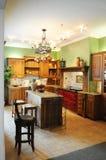 Kleurrijke Moderne Keuken Stock Foto