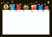 Kleurrijke monsters stock illustratie