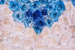 Kleurrijke mooi nam bloemdocument achtergrond toe stock afbeeldingen