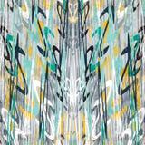 Kleurrijke mooie abstracte golven in een retro stijl op de grijze achtergrond grunge effect vectorillustratie Stock Afbeelding