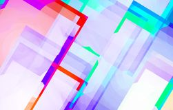 Kleurrijke Mooie Achtergrond Lijnvorm Stock Fotografie