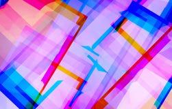 Kleurrijke Mooie Achtergrond Lijnvorm Royalty-vrije Stock Foto