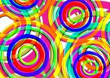 Kleurrijke Mooie Achtergrond Rond cirkelvormontwerp Stock Afbeeldingen